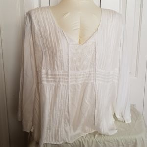 Faded glory white peasant blouse